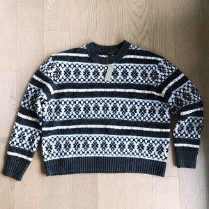 🆕 NWT J. Crew Men's Fair Isle Lambs Wool Sweater